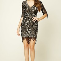 Lace Cutout Mini Dress