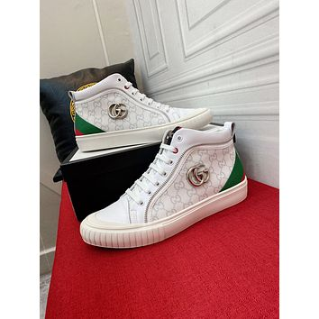 Gucci 2021Men Fashion Boots fashionable Casual leather Breathable Sneakers Running Shoes09200ff