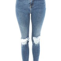 MOTO Ripped Jamie Jeans   Topshop