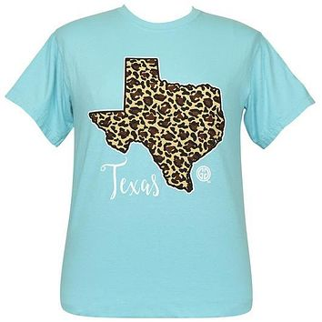 Girlie Girl Originals Preppy Texas Leopard State Comfort Color T-Shirt