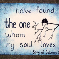 Canvas Painting - Birds - Song of Solomon 3:4
