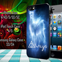 harry potter always Samsung Galaxy S3/ S4 case, iPhone 4/4S / 5/ 5s/ 5c case, iPod Touch 4 / 5 case