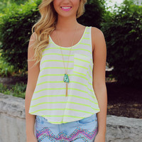 Coming In Hot Tank - Neon Yellow