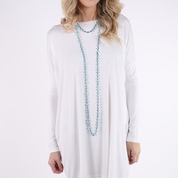 PIKO 1988 Long Sleeve Tunic Dress - Off White