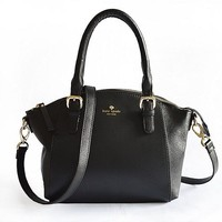 Kate Spade Lady Classic Shopping Leather Tote Handbag Shoulder Bag Color Black Yellow Coffe