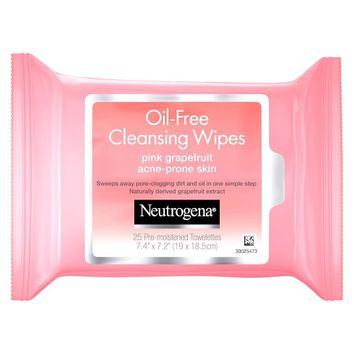 Neutrogena® Oil-Free Cleansing Wipes Pink Grapefruit - 25ct