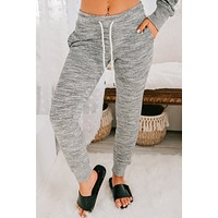 Kick Back And Relax Joggers (Marled Charcoal)