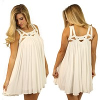 I Got En-caged Dress in Ivory