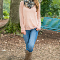 Don't Look Back Sweater, Blush