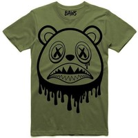 Baws Drip Olive Sneaker Tees Shirts