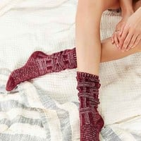 Chunky Patterned Knee-High Sock