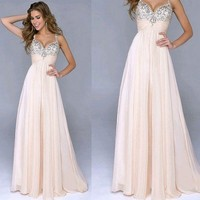 Weixinbuy Womens Long Formal Evening Ball Gown Party Prom Bridesmaid Dress