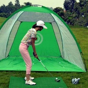 Golf Net Practice Exercises Driving Chipping Soccer Cricket + balls Green