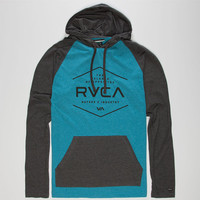 Rvca Pure Mens Lightweight Hoodie Blue  In Sizes