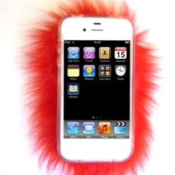 Furrywraps, Furry Iphone 4 4s Case Cover RED!