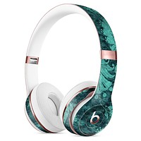 Green and Teal Floral Velvet Full-Body Skin Kit for the Beats by Dre Solo 3 Wireless Headphones