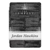 The Tempest Shakespeare Play Personalize iPad Case