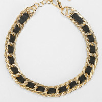 Chain & Leather Choker Necklace  - Urban Outfitters