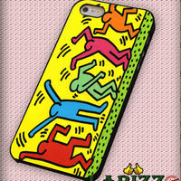 """Celebrating Keith Haring for iPhone 4/4s, iPhone 5/5S/5C/6/6+, Samsung S3/S4/S5, Samsung Note 3/4 Case """"007"""""""