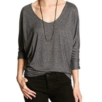Banana Republic Womens Factory Marled Dolman Tee