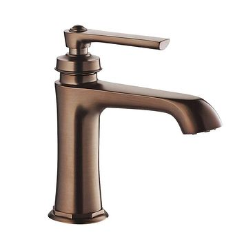 DAX-9809-ORB / DAX SINGLE HANDLE BATHROOM FAUCET, BRASS BODY, OIL RUBBED BRONZE FINISH, SPOUT HEIGHT 3-15/16 INCHES