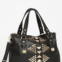 Street Level 'Oversized' Studded Faux Leather Tote | Nordstrom