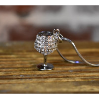 Wine Glass Charm Necklace