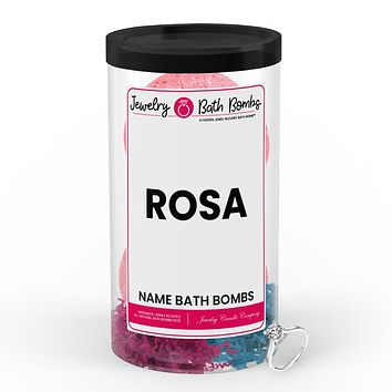 ROSA Name Jewelry Bath Bomb Tube