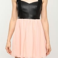 Leather Cut Out Dress @ Cicihot sexy dresses,sexy dress,prom dress,summer dress,spring dress,prom gowns,teens dresses,sexy party wear,women's cocktail dresses,ball dresses