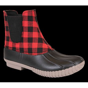 Boots Slip On Plaid - F20 - Simply Southern