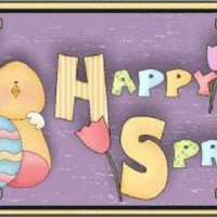 Yellow Happy Spring Bunny and Chick Tag License Plate