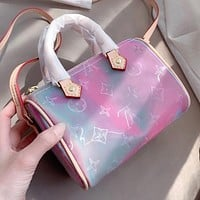 Louis Vuitton LV New gradient colorful embossed ladies shopping handbag shoulder bag