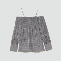 CHECKED PLEATED TOPDETAILS