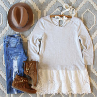 Fall Tale Lace Sweatshirt