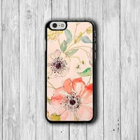 Vintage Pink Floral iPhone 6 Cases, Flower Chinese Rose iPhone 6 Plus Cover, Phone 5/5S, iPhone 4/4S Hard Case, Rubber Deco Accessories Gift