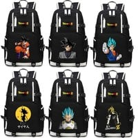 Japanese Anime Bag Hot  Dragon Ball Z Backpack Cosplay Dragon Ball Super Son Goku Canvas Bag Super Saiyan Schoolbag Travel Bags AT_59_4