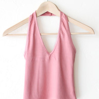 Halter Crop Top - Dusty Rose