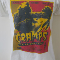 cramps t-shirt post punk retro vintage crass white stripes