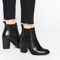 Windsor Smith Louie Black Leather Heeled Ankle Boots