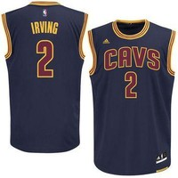 Mens Cleveland Cavaliers Kyrie Irving adidas White Replica Home Jersey