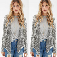 Cardigan Lace Irregular Jacket 2016 Fall Winter Fashion [8906171463]