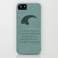 Jurassic Park iPhone & iPod Case by OurbrokenHouse