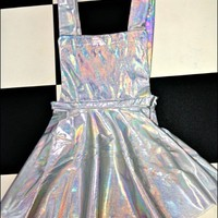 SWEET LORD O'MIGHTY! HOLOGRAM PINAFORE DRESS