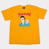 THRASHER GONZ COVER TEE (GOLD)