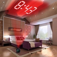 Ultra Modern Digital Alarm Clock Projecting Display