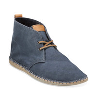 Pikko Alto in Blue Waxed Canvas - Mens Boots from Clarks