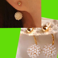 Pearl Ball Wrapping Ear Cuffs