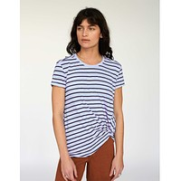 Slub Twist Tee White Stripe