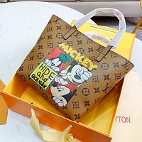 elainse29 LV 2020 shopping bag premium Mickey mouse Shoulder Bag silk print vintage style vintage