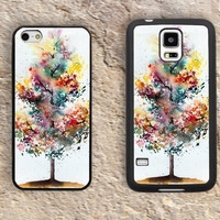 Watercolor Trees iPhone Case-iPhone 5/5S Case,iPhone 4/4S Case,iPhone 5c Cases,Iphone 6 case,iPhone 6 plus cases,Samsung Galaxy S3/S4/S5-133